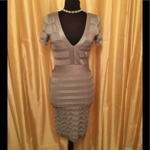 Size 8 grey French connection dress